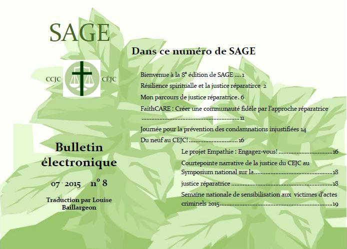 SAGE no. 8 maitenant disponible en francais